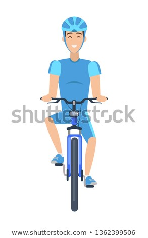 rajz · biciklis · illusztráció · fehér · háttér · keret - stock fotó © robuart