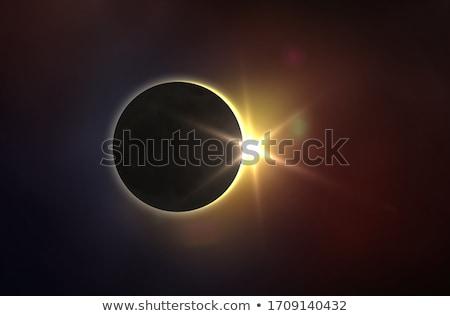 Luna eclipse ilustración cielo cara sol Foto stock © adrenalina