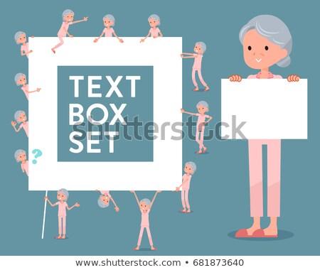 flat type patient senior womanicon stock photo © toyotoyo