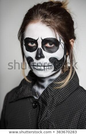 Woman painted like a corpse Stock photo © acidgrey