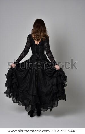 тонкий · женщину · Nice · платье - Сток-фото © acidgrey