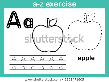 Spell English word apple Stock photo © bluering