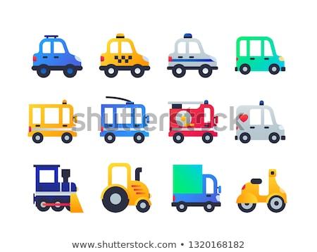 vehicle types   set of flat design style icons stock photo © decorwithme