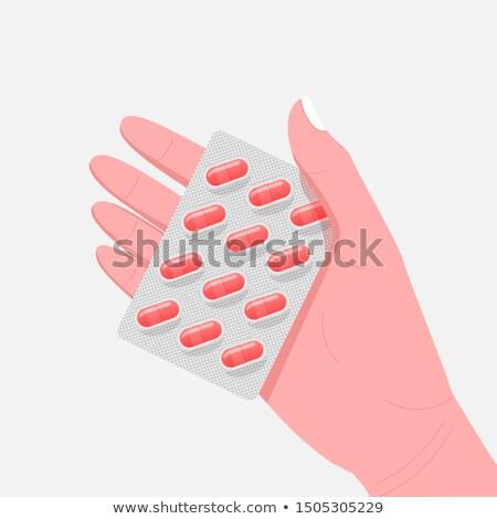 Doctors Hands Sign Prescription and Medicaments Stock photo © robuart