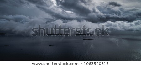 Fırtına bulutları ada deniz Japonya doğa manzara Stok fotoğraf © papa1266