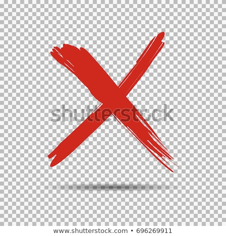 Cross sign element. Red grunge X icon, isolated on white background. Mark graphic design. Button for Stock photo © kyryloff