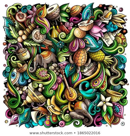 インド 手描き 実例 インド オブジェクト ストックフォト © balabolka