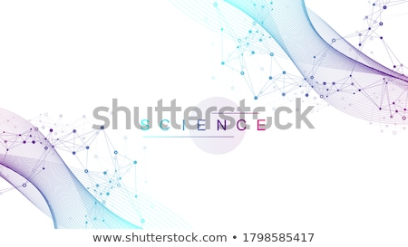 Dna Structure Vector. Medical Banner. Chemistry Cover. Laboratory Design. Illustration Stock photo © pikepicture