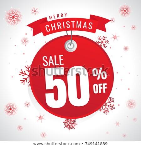 grande · natal · venda · bandeira · modelo · feliz - foto stock © sarts