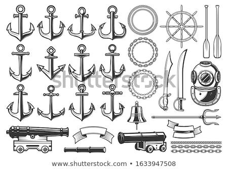 Geïsoleerd schepen kanon illustratie antieke metaal Stockfoto © paulfleet