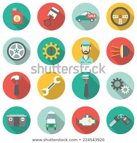 Lubricant flat icon Stock photo © smoki
