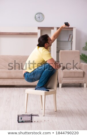 man trapped in a mousetrap smartphone Stock photo © rogistok