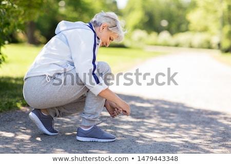いい シニア 女性 訓練 活動 ツリー ストックフォト © Lopolo