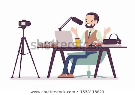 Foto stock: Blogger · vídeo · blog · câmera · internet · tiroteio