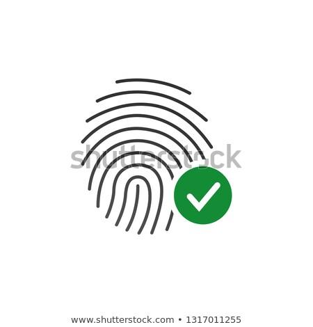 отпечатков пальцев успех икона изолированный белый бизнеса Сток-фото © kyryloff