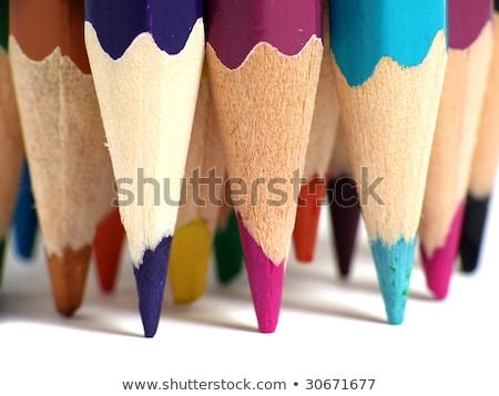 Rainbow colorato matite legno isolato bianco Foto d'archivio © make