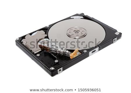 Komputera dysk twardy biały odizolowany laptop technologii Zdjęcia stock © OleksandrO