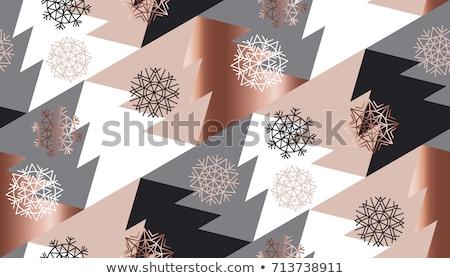 natal · simples · flocos · de · neve · inverno · azul - foto stock © pravokrugulnik