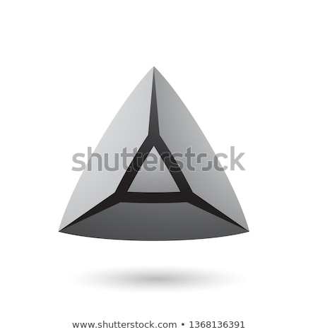 Grey and Bold 3d Pyramid Vector Illustration Stock photo © cidepix
