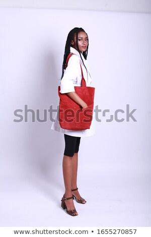 модный девушки составляют элегантный одежды Сток-фото © studiolucky