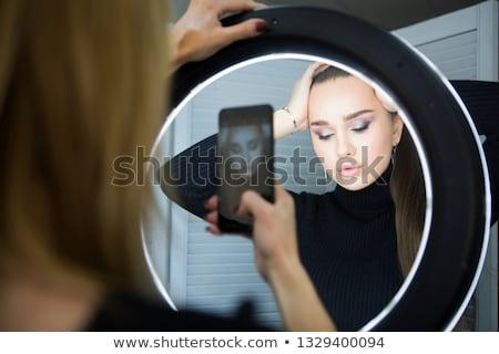 を構成する アーティスト 携帯 写真 モデル ストックフォト © dashapetrenko