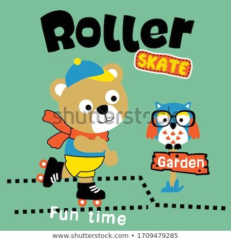 skate · schaatsen · schoen · kalk · eps · achtergrond - stockfoto © colematt