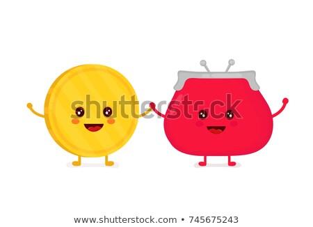 монеты кошелька талисман иллюстрация красный внутри Сток-фото © lenm
