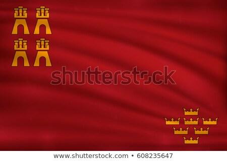 region of murcia flag stock photo © grafvision