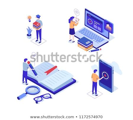 vetor · livros · prateleira · de · livros · gráfico · escritório · abstrato - foto stock © rastudio