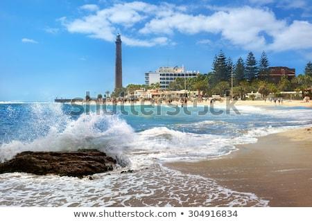 coast landscape of gran canaria island maspalomas lighthouse stock photo © vapi
