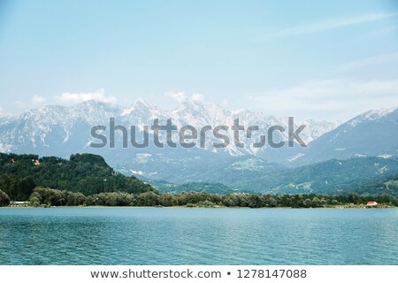 Lake Santa Croce at daylight Stock photo © frimufilms