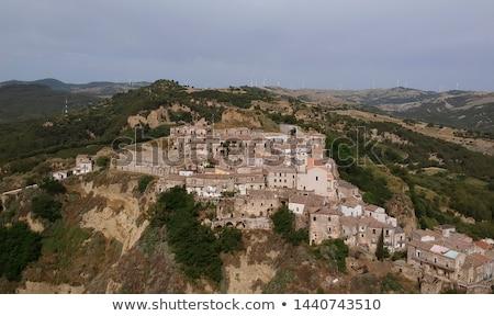 Panorâmico ver região Itália cidade velha edifício Foto stock © boggy