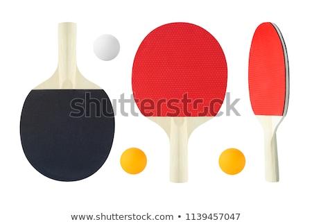 Ping pong racket witte eps 10 hout Stockfoto © netkov1