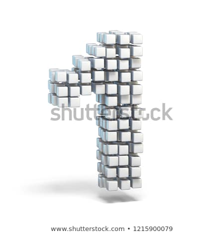 Cube grid Number 1 ONE 3D Stock photo © djmilic