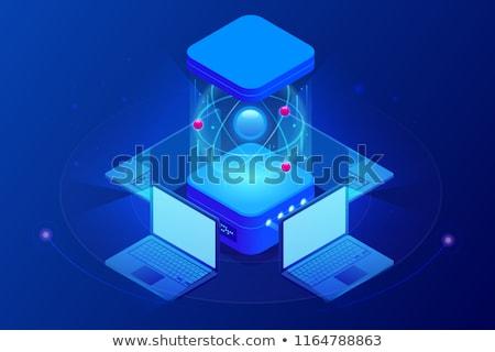 Artificial computing tecnologia isométrica 3D ícones Foto stock © frimufilms