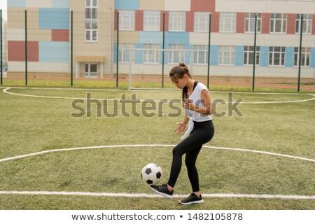 Foto d'archivio: Giovani · calci · soccer · ball · formazione · campo