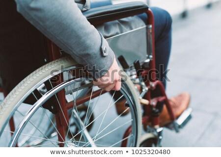 Cadeira de rodas usuários ferido pessoas conjunto Foto stock © Voysla