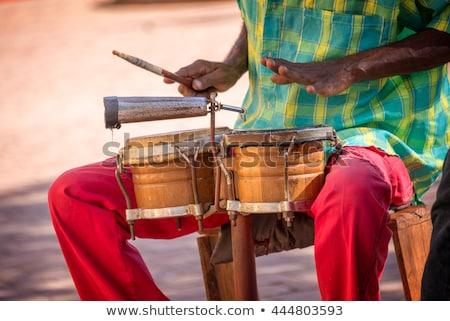 Rua músico tambor africano americano dinheiro ilustração Foto stock © jossdiim