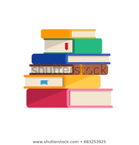 Pile of Books Covers with Bookmarks Isolated Icon Stock photo © robuart