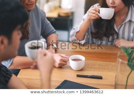 Primer plano empresario café atractivo altos Foto stock © lichtmeister