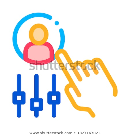 Hand Settings And Man Silhouette Agile Vector Stock photo © pikepicture