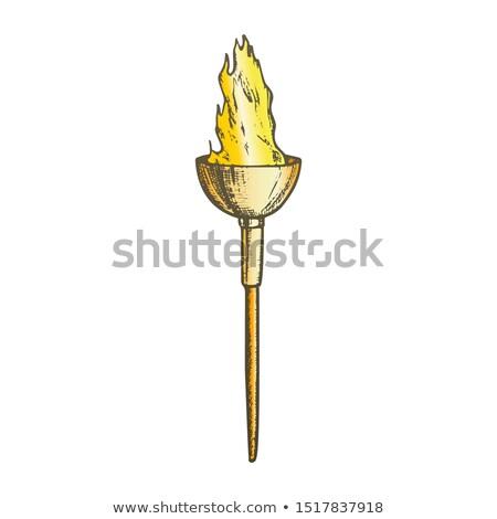 факел свет декоративный пламени Stick цвета Сток-фото © pikepicture