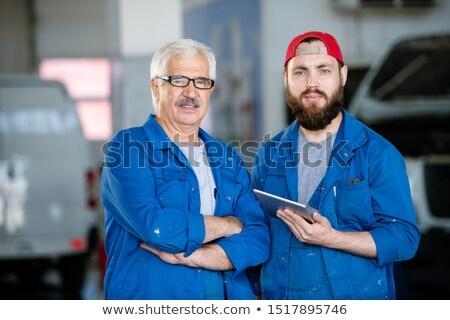 Jonge bebaarde technische dienst werknemer volwassen Stockfoto © pressmaster