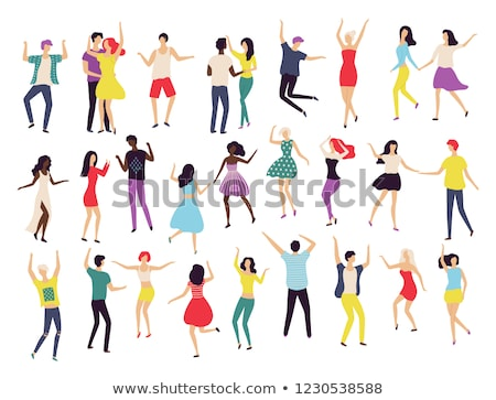 dancing people waltz classic and modern dance stock photo © robuart