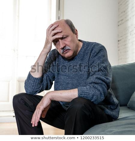 несчастный · старший · человека · страдание · боль · в · спине · домой - Сток-фото © dolgachov