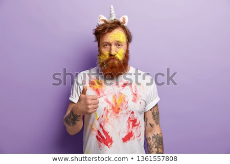 Paint over the picture unicorn Stock photo © Olena