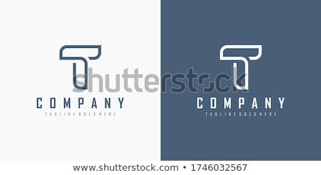 Linear geométrico alfabeto letra i simples Foto stock © kyryloff