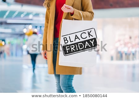 Black Friday, Customers with Paper Bags and Gifts Stock photo © robuart