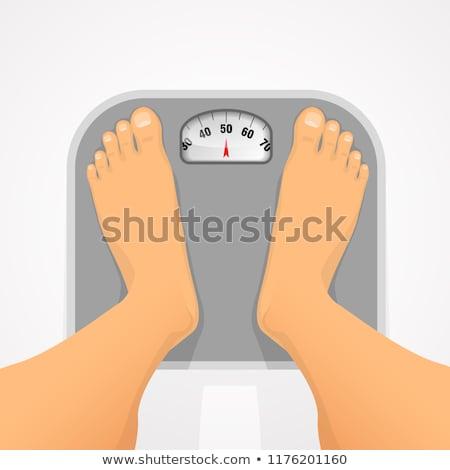 Girl Gain Weight Illustration Stock photo © lenm