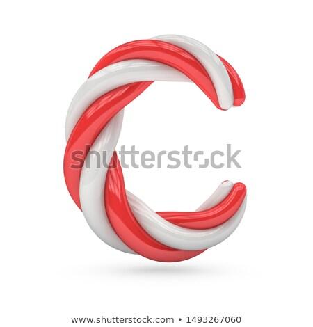 ピンク フォント 手紙c 3D レンダリング 実例 ストックフォト © djmilic